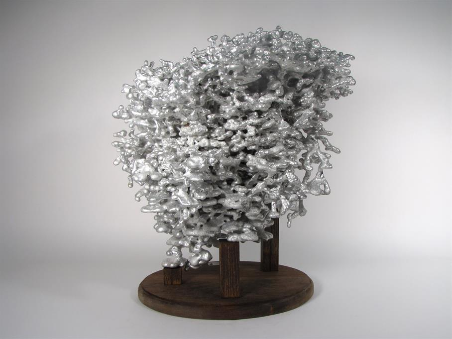 Back Picture - Aluminum Fire Ant Colony Cast #009 | Anthill Art
