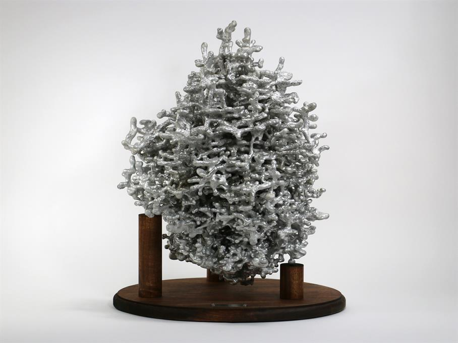 Front Picture - Aluminum Fire Ant Colony Cast #032 | Anthill Art